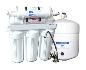 Reverse osmosis under sink 5 stage filters